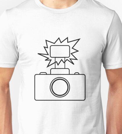 Camera SLR Flash_outline Unisex T-Shirt