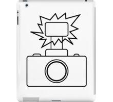 Camera SLR Flash_outline iPad Case/Skin