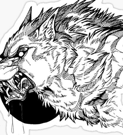 Werewolf moon inks Sticker