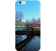 A bridge, the river and reflections II | waterscape photography iPhone Case/Skin