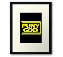 Puny God Framed Print