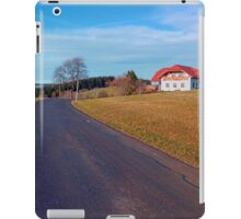 Country road, scenery and blues sky | landscape photography iPad Case/Skin