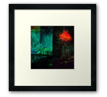 ancient surfaces...9th phase Framed Print