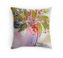 Begonia Pot Throw Pillow