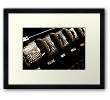 VOLUME control on the electric guitar amplifier Framed Print