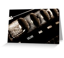 VOLUME control on the electric guitar amplifier Greeting Card