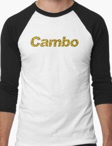 Cambo Giraffe Print Men's Baseball ¾ T-Shirt