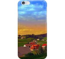 Small village skyline with sunset | landscape photography iPhone Case/Skin