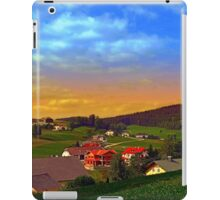 Small village skyline with sunset | landscape photography iPad Case/Skin