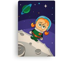 Zoe Conquers The Moon Canvas Print