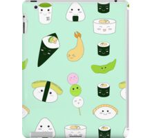 Kawaii Bento Box Print - Mint iPad Case/Skin