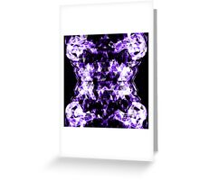 Electrifying purple sparkly triangle flames Greeting Card
