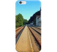 Haslach railway station | architectural photography iPhone Case/Skin