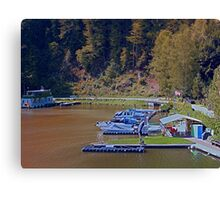 Boats in the harbour II | waterscape photography Canvas Print
