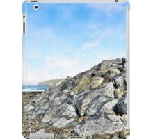 beach and boulders at ballybunion iPad Case/Skin