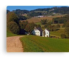 Beautiful traditional farmland scenery | landscape photography Canvas Print