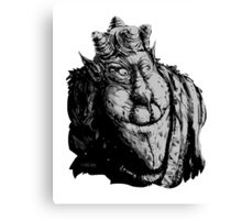 Forest Dude T greyscale Canvas Print