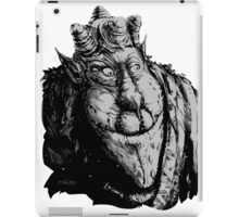 Forest Dude T greyscale iPad Case/Skin