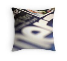Magazine Cover Throw Pillow
