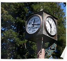 Clock Tower, Mill Valley, California Poster