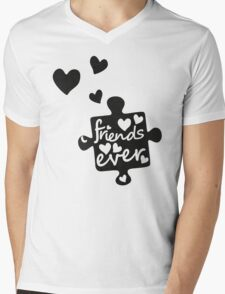 Best Friends Forever Connection Puzzle (right) Mens V-Neck T-Shirt
