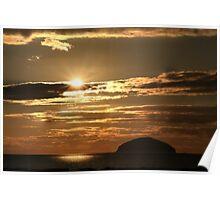 Sunset over Ailsa Craig - Scotland UK Poster
