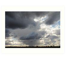 Nullarbor storm Art Print