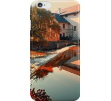 The river, a country house and reflections | waterscape photography iPhone Case/Skin