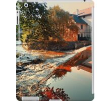 The river, a country house and reflections | waterscape photography iPad Case/Skin