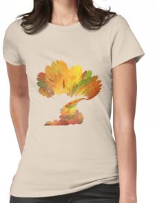 the autumn tree Womens Fitted T-Shirt