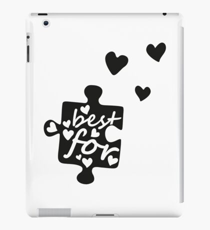 Best Friends Forever Connection Puzzle (left) iPad Case/Skin