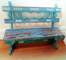 *Colourful small bench on display at Convent* by EdsMum