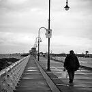 A fisherman at St Kilda Pier, Melbourne by Elana Bailey