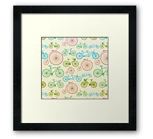 colourful bicycles Framed Print