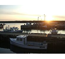 Cape Breton - Boats at Sunset Photographic Print