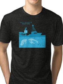 Save a Manatee - Boat Safe Tri-blend T-Shirt