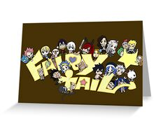 Fairy Tail anime manga Guild shirt Greeting Card
