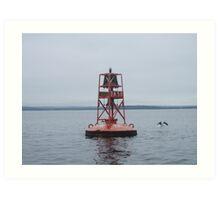 Harbor Marker - St Margaret's Bay, NS Art Print