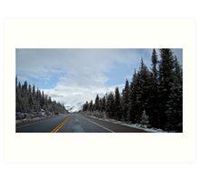 winter road Art Print