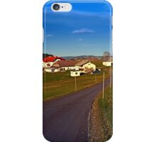 Country road, scenery and blues sky II | landscape photography iPhone Case/Skin