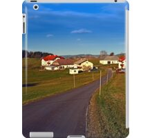 Country road, scenery and blues sky II | landscape photography iPad Case/Skin