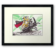 Super Rodeo Frog Framed Print