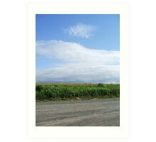Blue Skies and Gravel Roads - Courthouse Hill, NS Art Print