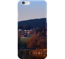 Indian summer sunset at the fishing lake III | waterscape photography iPhone Case/Skin