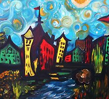 Whimsy Town and Swirl Sky by rokinronda