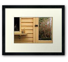 """Window with Bottles, Door with Fuchsia"" Framed Print"