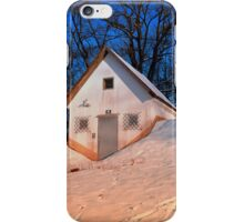 Small cottage in winter wonderland | architectural photography iPhone Case/Skin
