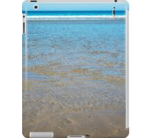 beach in county kerry ireland with wading woman iPad Case/Skin