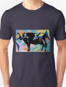 yellow and black cow Unisex T-Shirt