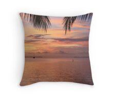Key Largo Sunset Throw Pillow